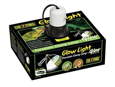 Ex klemlamp + glow reflector porselein S/14CM