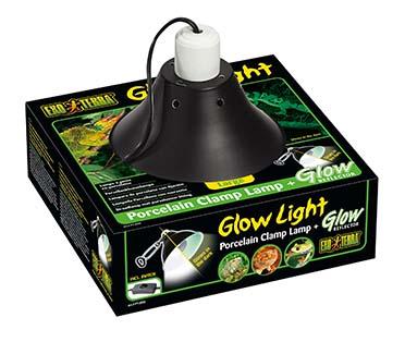 Ex klemlamp + glow reflector porselein Ø25CM