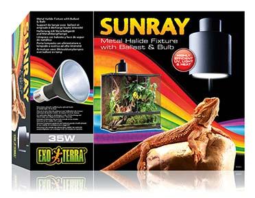 Sunraymet.halid.fixt. w/ballast 110v-35w
