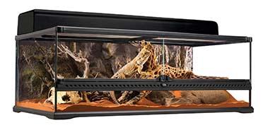Ex glas terrarium incl achterwand 90x45x30CM