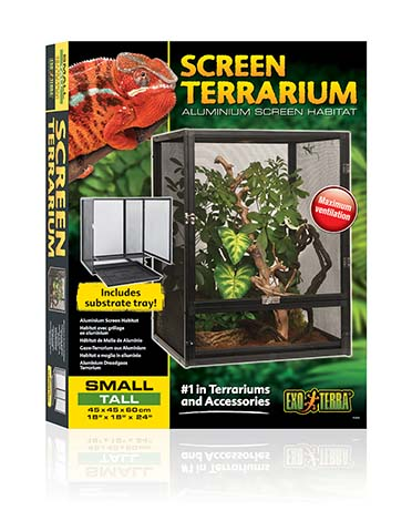 Ex aluminium draadgaas terrarium X-SMALL 45x45x60CM