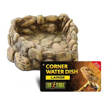 Ex corner water dish  large