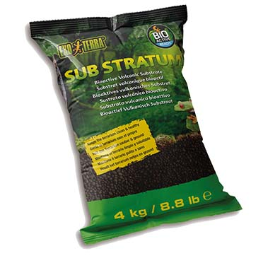 Ex frog bioactive volcanic substrate  4kg - 38,5x7x26,5cm