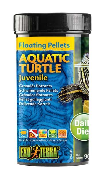 Ex drijvende pellets jonge waterschildpad 90GR