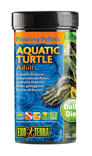 Ex drijvende pellets volwassen waterschildpad 85GR