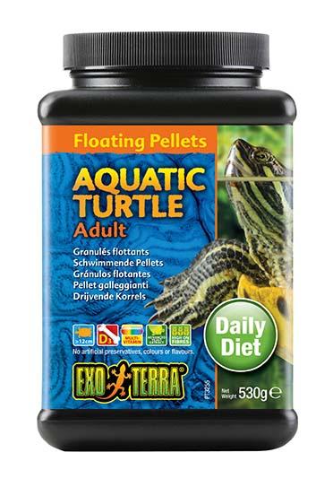 Ex drijvende pellets volwassen waterschildpad 530GR