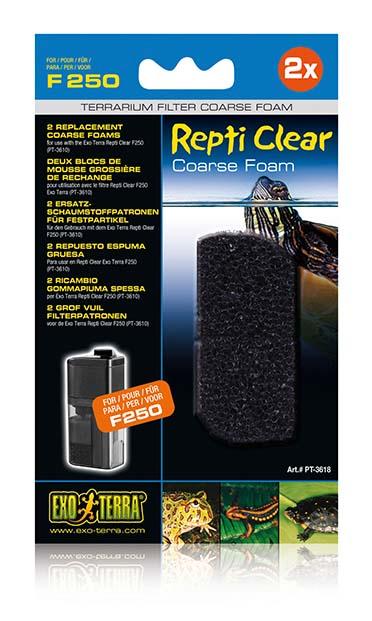 Ex repti clear f250 coarse foam