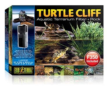 Ex turtle cliff aquatic terr. filter + rock  L