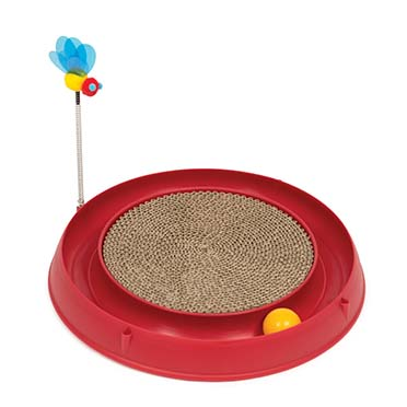 Ca play circuit ball toy + scratch pad Red