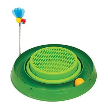 Ca play circuit ball toy + cat grass Green