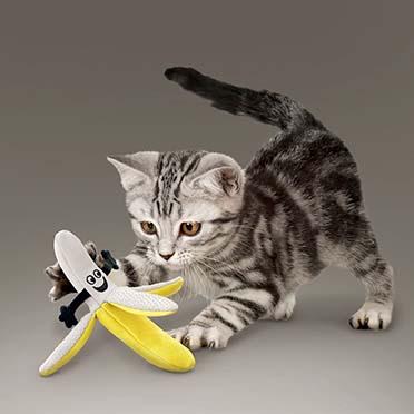 Kong cat better buzz banana Gemengde kleuren 16x17,15x7cm