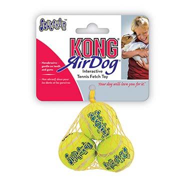 Kong air squeakair tennis ball 3pcs Yellow M