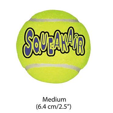 Kong air squeakair tennis ball 1pc Yellow M