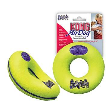 Kong air squeaker donut Yellow M