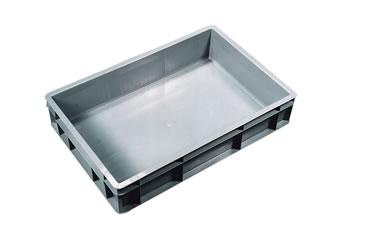 Pigeon bath rectangular in plastic Grey 40x60x12CM