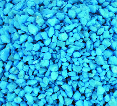 Aquarium gravel Blue 3-5MM/1KG