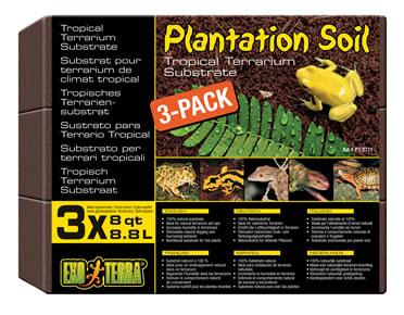 Ex tropical terrarium substrate, 3-pack  650GR/8,8L
