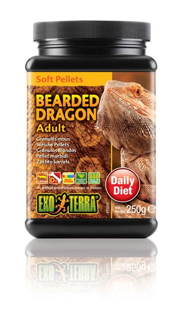 Ex soft pellets bearded dragon adult  250GR