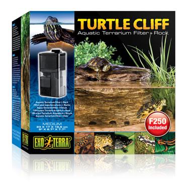Ex turtle cliff aquatic terr. filter + rock  M