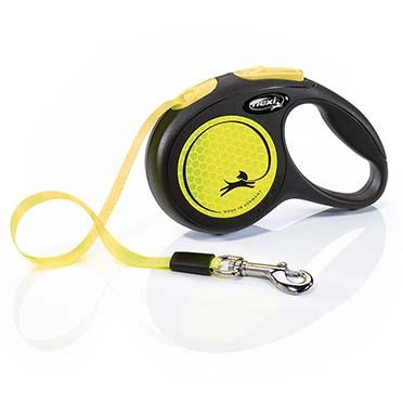 Flexi new neon sangle Noir/néon jaune XS/3M