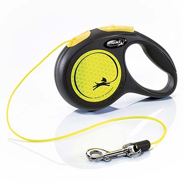 Flexi new neon cord Black/neon yellow XS/3M