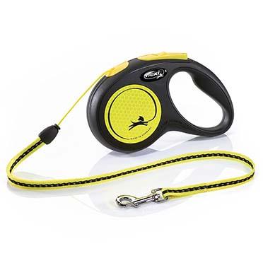Flexi new neon cord Black/neon yellow S/5M