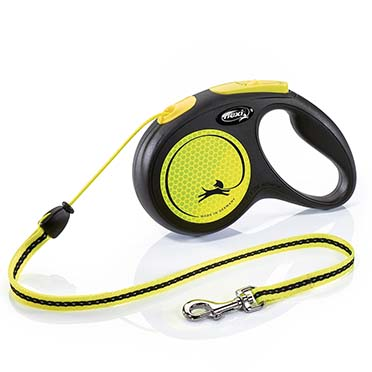 Flexi new neon cord Black/neon yellow M/5M