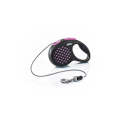 Flexi design cord Black/pink XS/3M