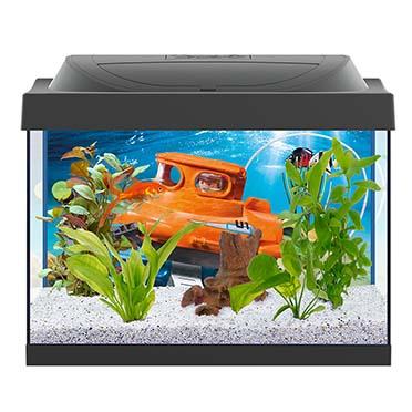 Starter line aquarium playmobil goldfish Noir 30L / 41x30x25cm