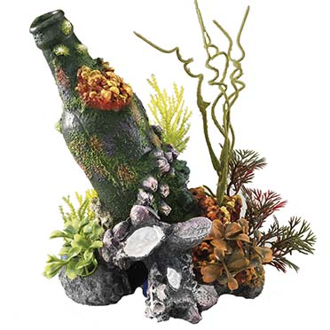 Bottle with airstone  15x11,5x20CM