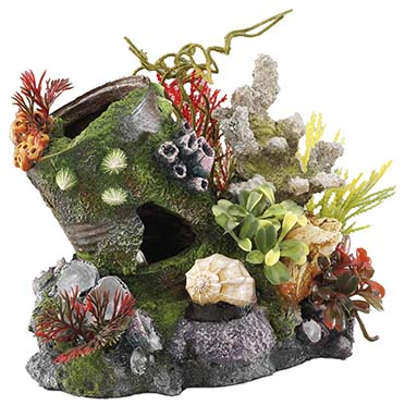 Tin with airstone  17x13,7x15CM