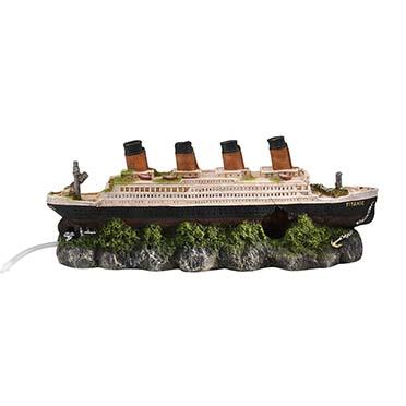 Shipwreck titanic with airstone  39x11x17CM