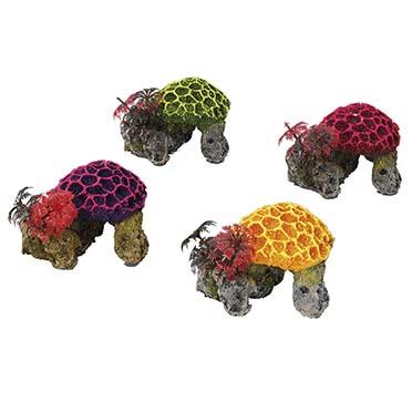 Coralset mini /with plants/assort  9,5x8,5x7CM