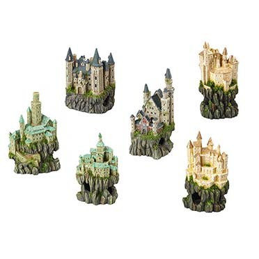 Castle on rock  9x8x15CM