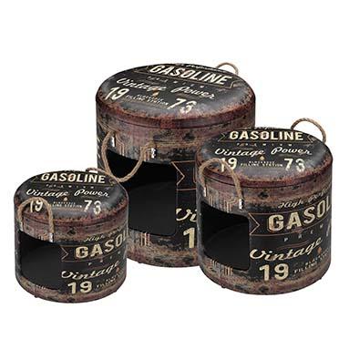Petbox gasoline set of 3 30x26CM/35x34CM/40x42CM