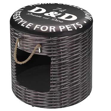 Petbox rattan L - 42x40CM