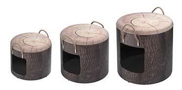 Petbox set wood 30x26CM/35x34CM/40x42CM