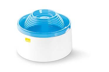 Mango pet water feeder Wit/blauw 22x22x15CM