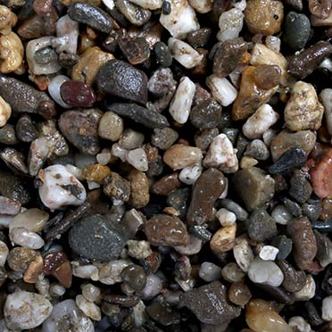 Aquarium gravel dark coarse  3-6MM - 10kg