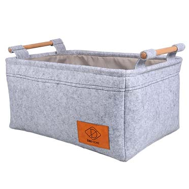 Boris basket Grey wash 46x34x22cm