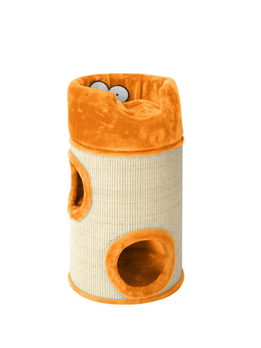 Cat dome de luxe with cushion Orange 34x34x72CM