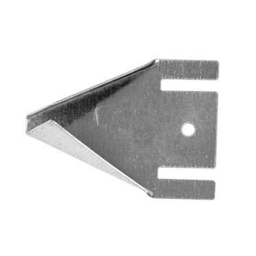 Zitstokhouder metaal 6x4x2cm