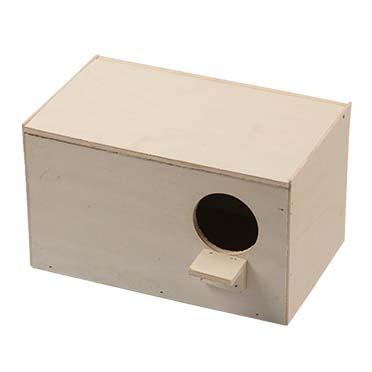 Nest box lovebird horizontal  25x15x15cm