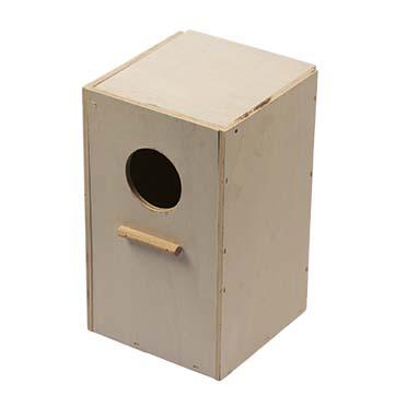 Nest box lovebird vertical  15x15x25cm