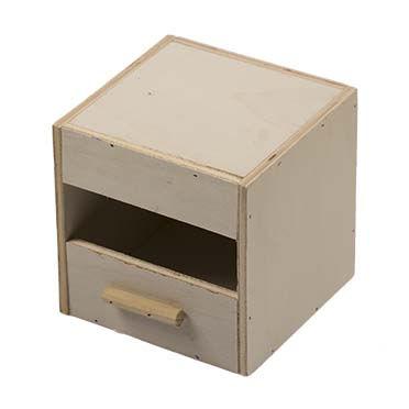 Nest box exotiques 1/3 open for aviaries  12,5x12x12,5cm