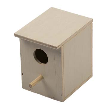 Nest box finch 1/3 open for aviaries  12x10x13cm