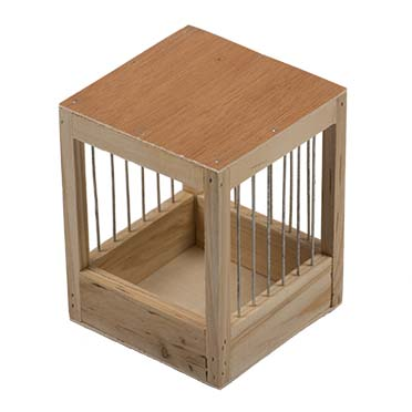 Nest box with bars for in aviary  11x11x13cm