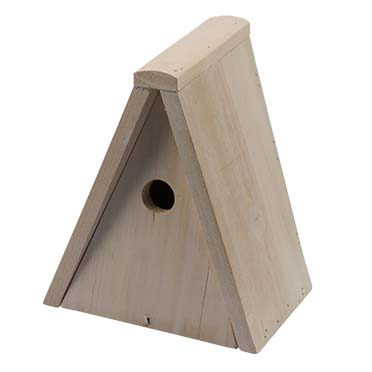 Tit nest box triangular  20x15x25cm