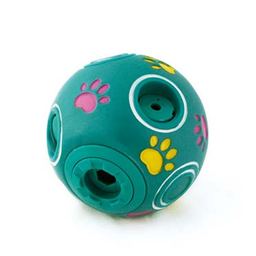 Plastic toy giggle treat ball