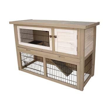 Woodland rabbit hutch cotton cottage  111x45x78CM